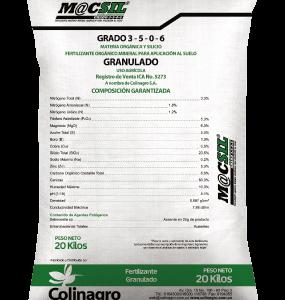 Fertilizante orgánico mineral MACSIL