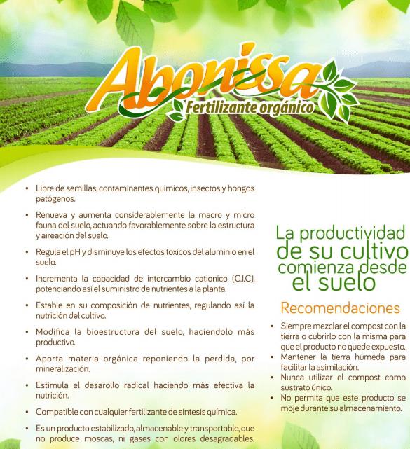 aplicación de abono orgánico