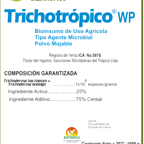 FUNGICIDA MICROBIOLÓGICO TRICHOTRÓPICO WP