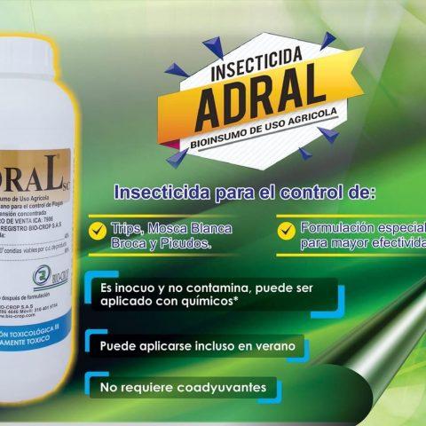 Insecticida biológico Beauveria bassiana Adral