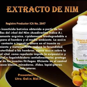 INSECTICIDA EXTRACTO DE NIM