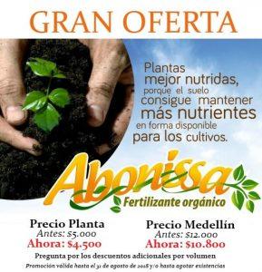Abono orgánico Abonissa, Gran Oferta bulto por 50 kilos hasta agosto 31