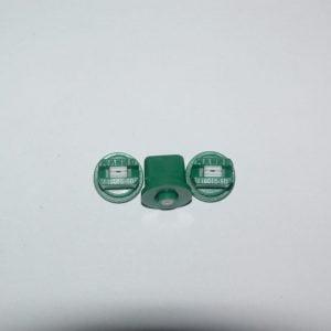 Boquilla cerámica chorro plano o abanico angulo 110º verde 110015