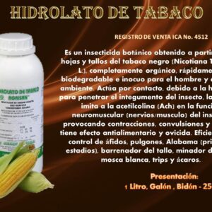 Nematicida hidrolato de tabaco