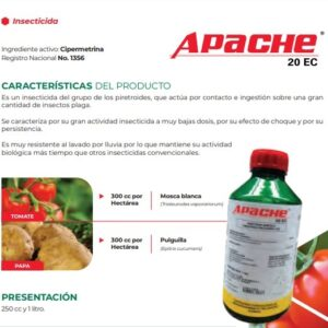 CIPERMETRINA INSECTICIDA APACHE 20 EC