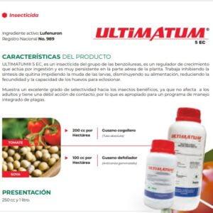 LUFENURON INSECTICIDA ULTIMATUM 5 EC